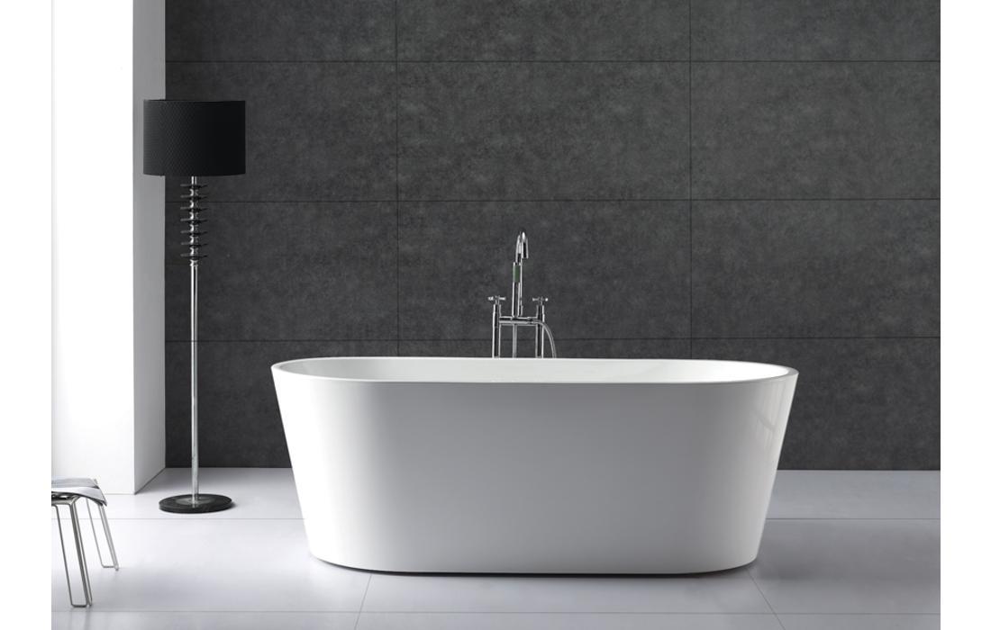 Vasca Da Bagno White : Vasca da bagno freestanding in acrilico ovale irregolare